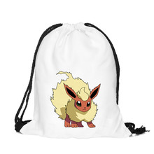 39*30cm Hot Sales Flareon Printing Pokemon Pocket Drawstring Bag Backpack Oxford Drawstring Pouch Storage Bag Best Gift