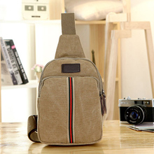 Brand New Men Chest Bags Male Canvas Bag Casual Bag Good Quality 3 Colors