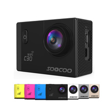 SOOCOO C30/C30R 4K Sports Camera Wifi Gyro Adjustable Viewing angles(70-170 Degrees) NTK96660 30M Waterproof Action Camera