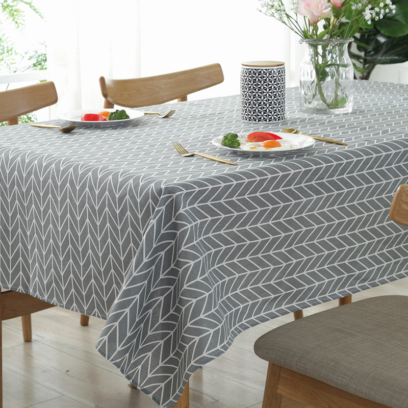 Arrow Grid  Picnic Party Linen Cotton Dinner Wedding Party Restaurant Tablecloth