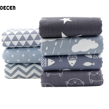 Quilting Cotton Fabric Gray Series Fat Quarter Bundles Fabric For Tela Patchwork Tissue Kids Bedding 7pcs 40X50CM O2-7-4(China)