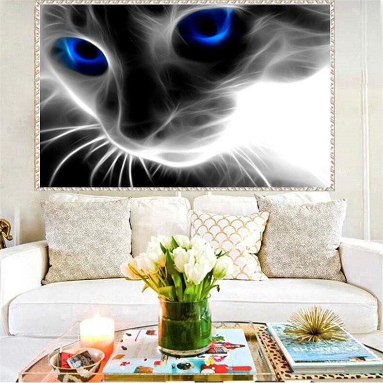 YGS-541-DIY-Full-5D-Diamond-Embroider-The-Cute-Cat-Round-Diamond-Painting-Cross-Stitch-Kits (2)