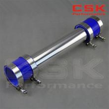 "63mm 2.5"" Aluminum Turbo Intercooler Pipe Piping Tubing + silicon hose + T bolt clamps kits BLUE"