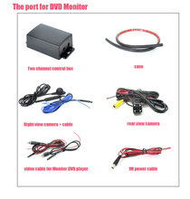 2CH round view car camera control box + Car right view camera CCD HD + Car rear view parking backup camera