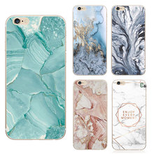 Fashion Phone Cases For iPhone 6s Case Marble Stone image Painted Cover Mobile Phone Bags For iPhone 6 6s 7 plus case Screen