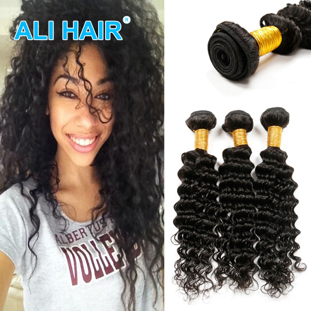 8A Malaysia 3Pieces/lot Curly Virgin Hair Malaysia Deep Wave Human Hair Extension Mink Malaysia Virgin Hair Weave Bundles<br><br>Aliexpress