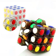 Creative 3x3x3 Speed Professional Puzzle Magic Cube Game Dot Shape Education Toy