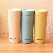 The new natural green wheat fiber bottle creative thicker quality and fashionable home office mug