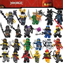 2018 New Legoing Ninjago Figures Blocks Nya Jay Zane Kai Cole Harumi Samurai X Action Legoings Figures Ninjago Toys For Children(China)