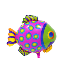 22inch Colorful Cute Dots Fish Sea Creatures Tropical Fish Balloons Helium Balloon Flying Fish Kids Toy Birthday Party Deco(China)