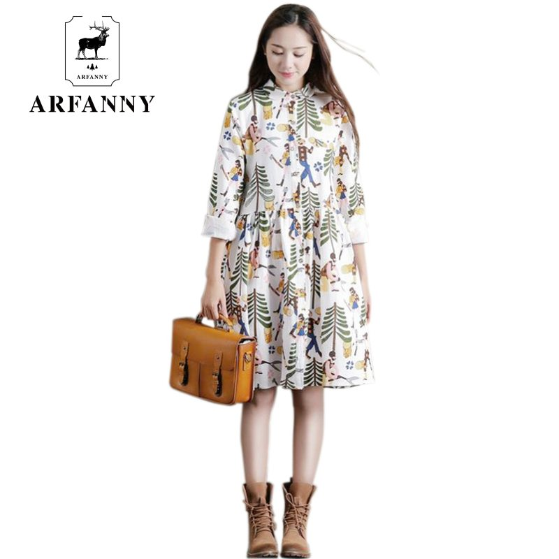 elbise Spring quality leaves printed long sleeves dress. Girls pick up a simple women. In-kind shooting dresses(China (Mainland))