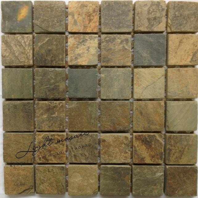 Natural Stone Marble Mosaic Tiles Block Pattern American Old Country