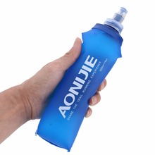 250ml  500ml TPU Folding Soft Flask Sport Water Bottle Running Camping Hiking Water Bag BPA-Free Collapsible Drink Water Bottle