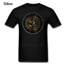 XS-3XL Om Lotus T Shirts Men's Short Sleeve Crew Neck T-Shirts TeenBoys New Style Plus Size Camisetas Top Clothes