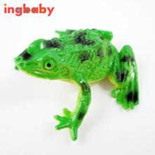 1pc High Quality PVC Simulation Frog Color Random Small Animal Model Spoof Scary Toy Mini Frog Children Novelty Toys ingbaby(China)
