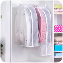 Transparent Storage Bags Cover Clothes Protector Garment Suit Coat Dust Cover Protector Dustproof Storage Bag Organization(China)