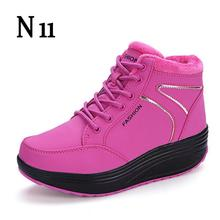 N11 New 2017 Women's Snow Boots Winter Female Plus Velvet Snow Platform Boots Women Thermal Cotton-padded Shoes Flat Ankle Boots