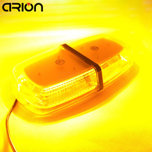CRION Newest 72 LED 5730 SMD Car Roof Flashing Strobe Emergency Light DC 12V 24V LED Truck Police Fireman Warning Lights Amber