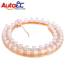 AutoEC Flexible LED Strip Soft PVC DRL 24/48/72/96/120CM Angel eyes Car Motorcycle Black license plate light Luces Great Wall