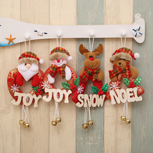 1Pcs Christmas Ornaments For Home Santa Claus Snowman Elk Bear Bells Christmas Tree Decoration DIY New Year Gift Kids Toy