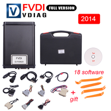 Hot selling Super scanner FVDI ABRITES Commander with 18 software in auto Diagnostic tool 2014 Version Free shipping(China)