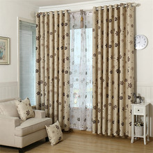 Hight Quality Sweet Flower Pattern Bedroom Living Room Door Window Curtain Finished Products Cloth Curtain + Voile Curtain