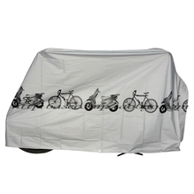 Gray Bike Motorcycle Rain Dust Cover Waterproof Polyester Scooter Outdoor Protector Cover for Moto