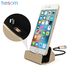 YIESOME 3 in 1 Sync Data Charging Magnetic Charger USB Cable Dock Station Desktop Docking for iPhone X 8 Plus 7 6S SE 5S 5 iPod(China)