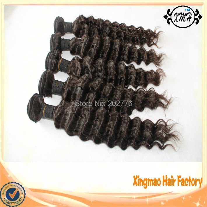 Free Shipping 6A Grade Brazilian Virgin Hair Bundles No Chemical No Synthetic Hair Deep Wave Cheap Brazilian Virgin Hair Weave<br><br>Aliexpress