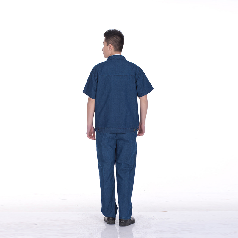 Overalls short-sleeved summer models cotton denim overalls suit male labor insurance overalls summer<br>