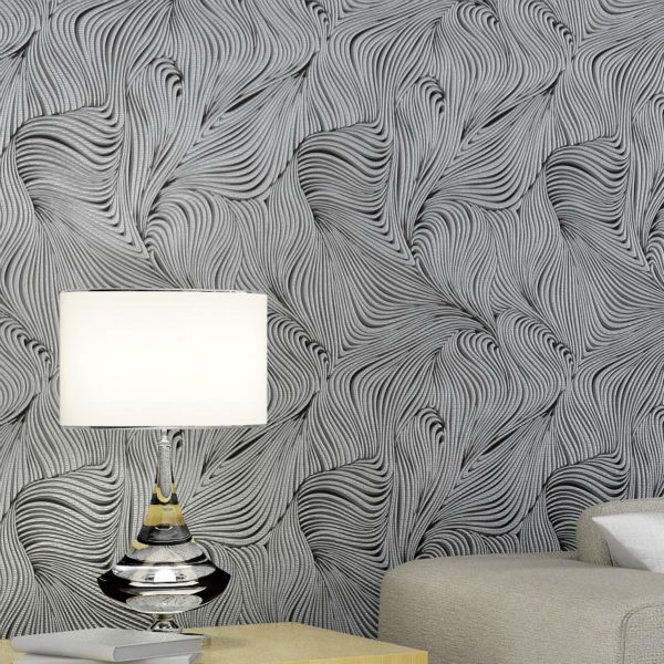 Modern Solid 5 Colors Abstract Geometric Textured Striped Wallpaper 3D Embossed Wall paper Rolls Home Decor<br>