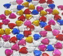 50pcs 12mm flat back Heart Crystal Rhinestone craft scrapbooking 21011220(12HS50)