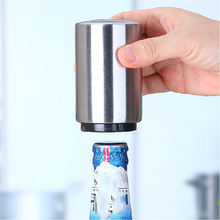 2017 Beer Bottle Opener Automatic Stainless Steel Beer Juice Drinking Bottle Opener Gift Bar Tool Opener Kitchen Cooking Tools(China)