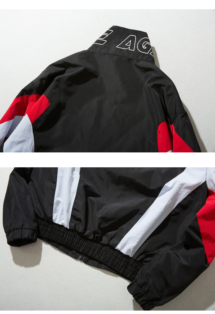 Vintage Color Block Zip Up Jackets 5