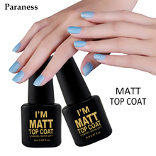 Paraness Transparent Colors  Lacquer Matt UV Gel Varnish Base Matte Top Coat UV Lamp Nail Art Nail Gel polish professional
