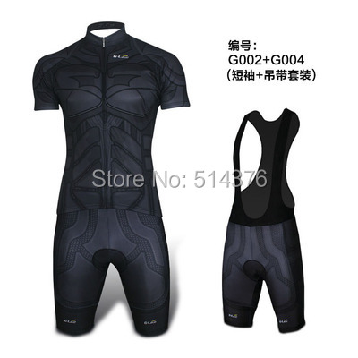 Super Hero Black batman cycling jersey polyester quick drying man bike/bicycle wear short clothing ropa ciclismo<br>