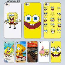 MOUGOL Sponge Bob design clear hard Case for Xiaomi redmi note 4 3 4Pro 4A 4X Mi 5 5s Plus 4 4C