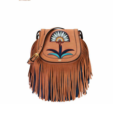 18x16CM Genuine Leather Quality Limited Edition Lovely Flower and Tassel Fashion Messenger bag A2765(China)