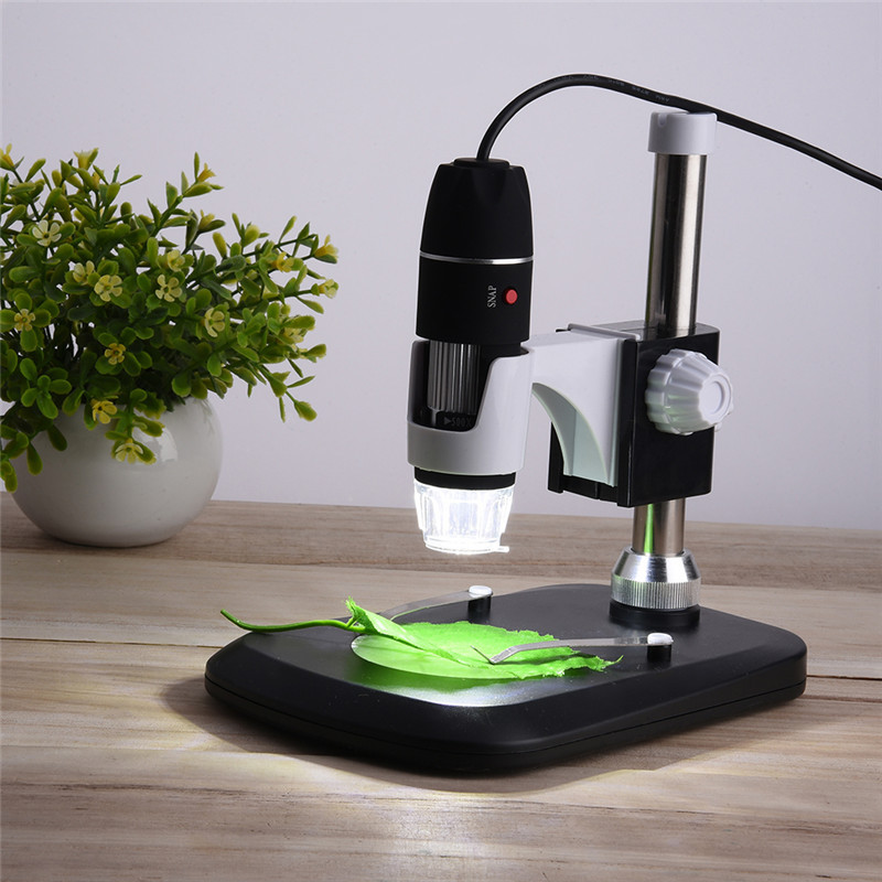 USB Digital Microscope 50X- 1000X 2MP Endoscope Electronic Magnifier Camera With Holder Stand 8LED<br>