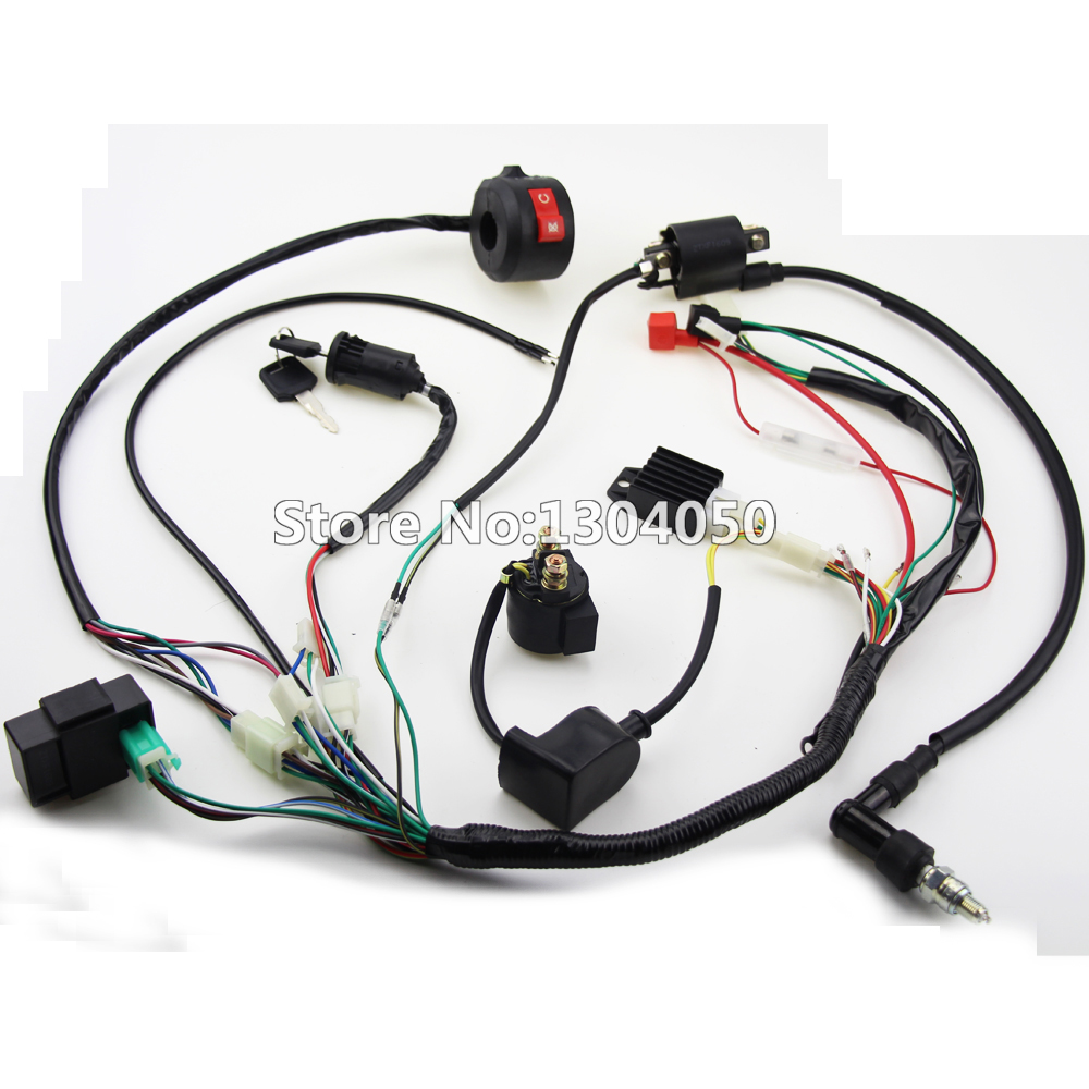Full Electrics Wiring Harness CDI font b Ignition b font font b Coil b font Spark online buy wholesale bike ignition coil from china bike ignition  at pacquiaovsvargaslive.co