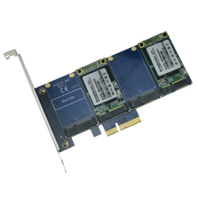 PCI-e to (4x) mSATA SSD controller card with RAID PCIM0401