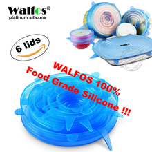 WALFOS universal lid Silicone saran food wrap-bowl pot lid-silicon stretch lids silicone cover pan Kitchen Vacuum Lid Sealer