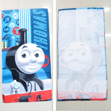 Children 120*60CM Thomas Train Pattern Swimming Towel/Boys Cotton Bath Towel/Cartoon Printed Towels For Beach(China)