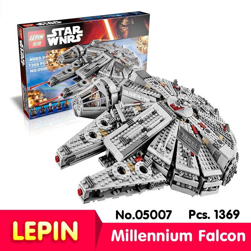 LEPIN 05007 1369Pcs With Original Box Star Wars Millennium Falcon Force Awakening 7 Model Building Blocks Toys with 10467<br><br>Aliexpress