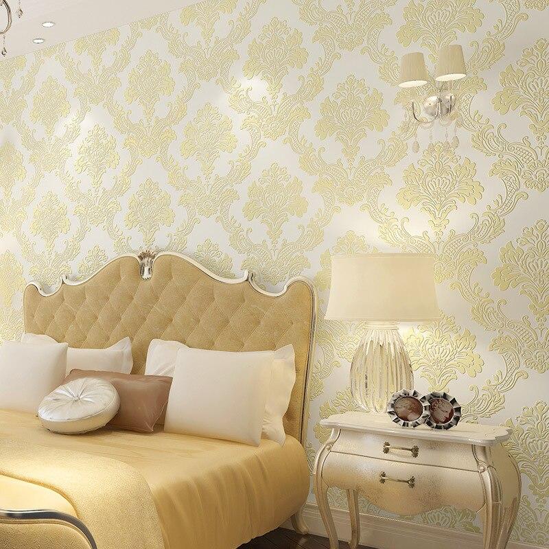 beibehang European style luxury wallpaper living room TV backdrop bedroom 3d shop full three - dimensional non - woven wallpaper<br>