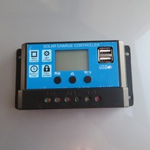 10A 12V 24V intelligence Solar cells Panel Battery Charge Controller Regulators LCD Display with 5V USB