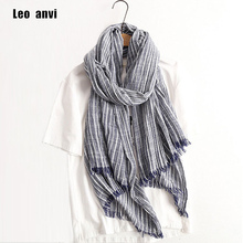 2017 Autumn Winter Scarf Women and Men Striped Cotton Linen Scarfs Vintage Oversized Shawls and Scarves Wrap Bufandas Mujer