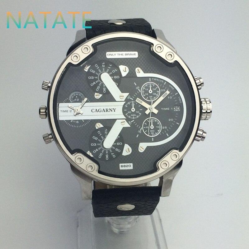 NATATE Luxury Brand Men Quartz  Watch Dual Movement Watch CAGARNY Waterproof Sport Military Wrist Watch 0840<br><br>Aliexpress