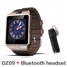Bluetooth headset+Smart Watch DZ09 for IOS Android Iphone PK GT08 Bluetooth Wristwatch Smartwatch Phone Support WhatsApp