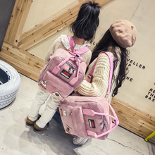 Women Backpack  Corduroy Backpack Simple Tote Backpack School Bags Students Shoulder Bag Travel Bag